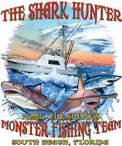 shark fishing t-shirts